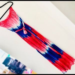 Boutique red, white, and blue maxi. MEDIUM